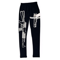 Gun printed leggings