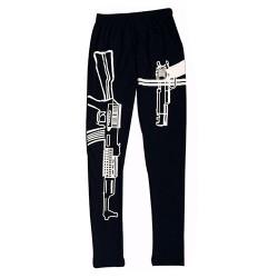 Gun printed leggings