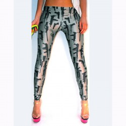 Gun theme leggings
